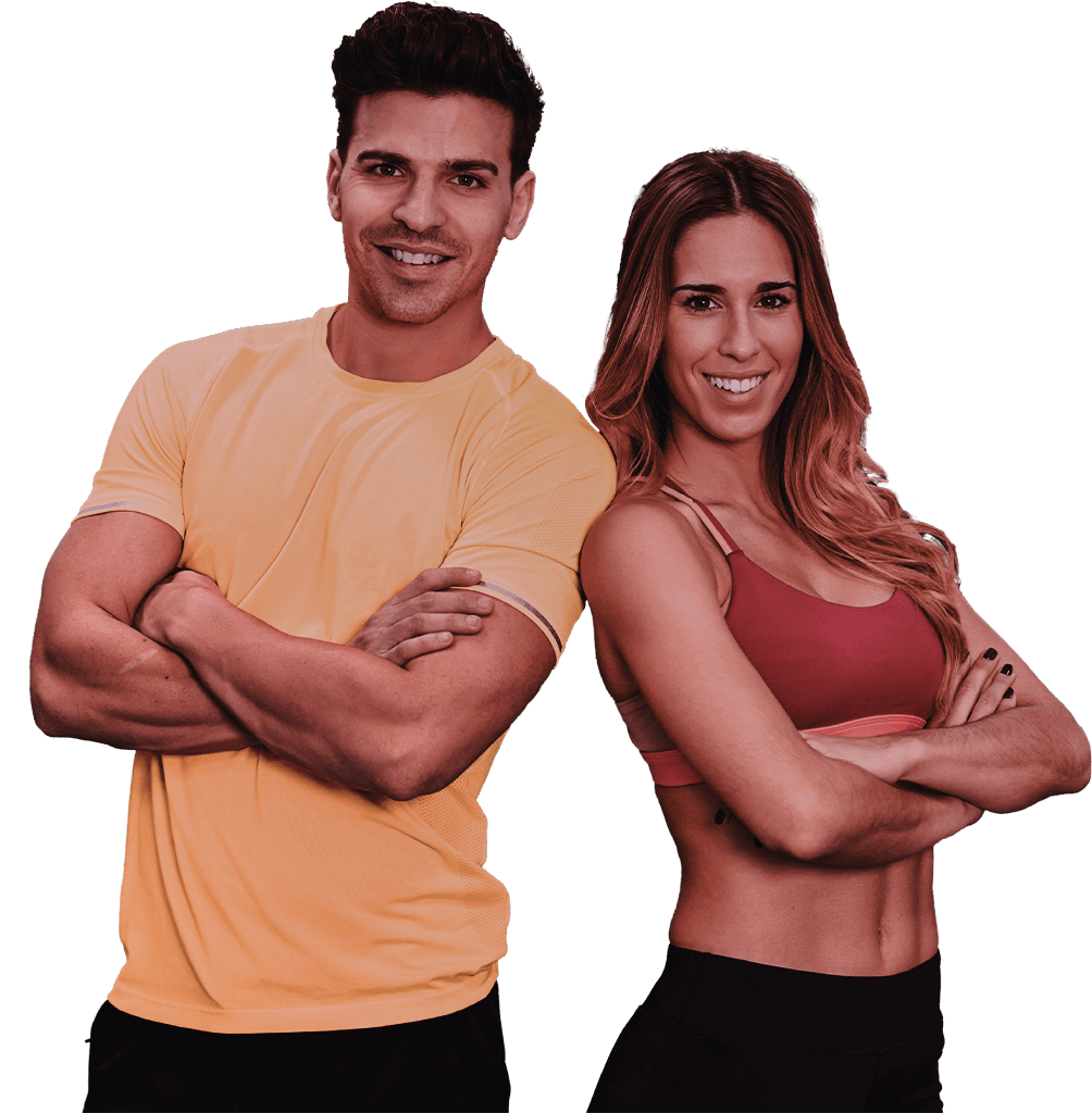 Couple de sportif souriants